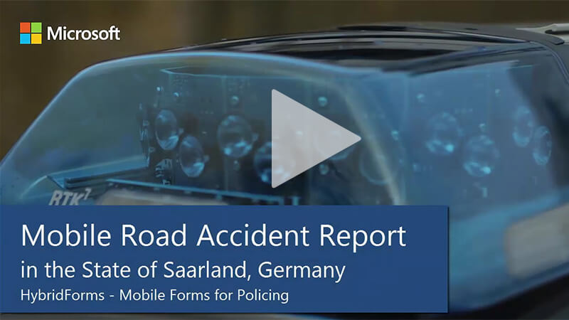 Saarland Police: Mobile Policing - Road Accident Report