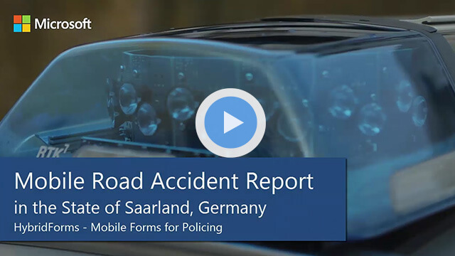 Mobile Road Accident Report in the State of Saarland with HybridForms