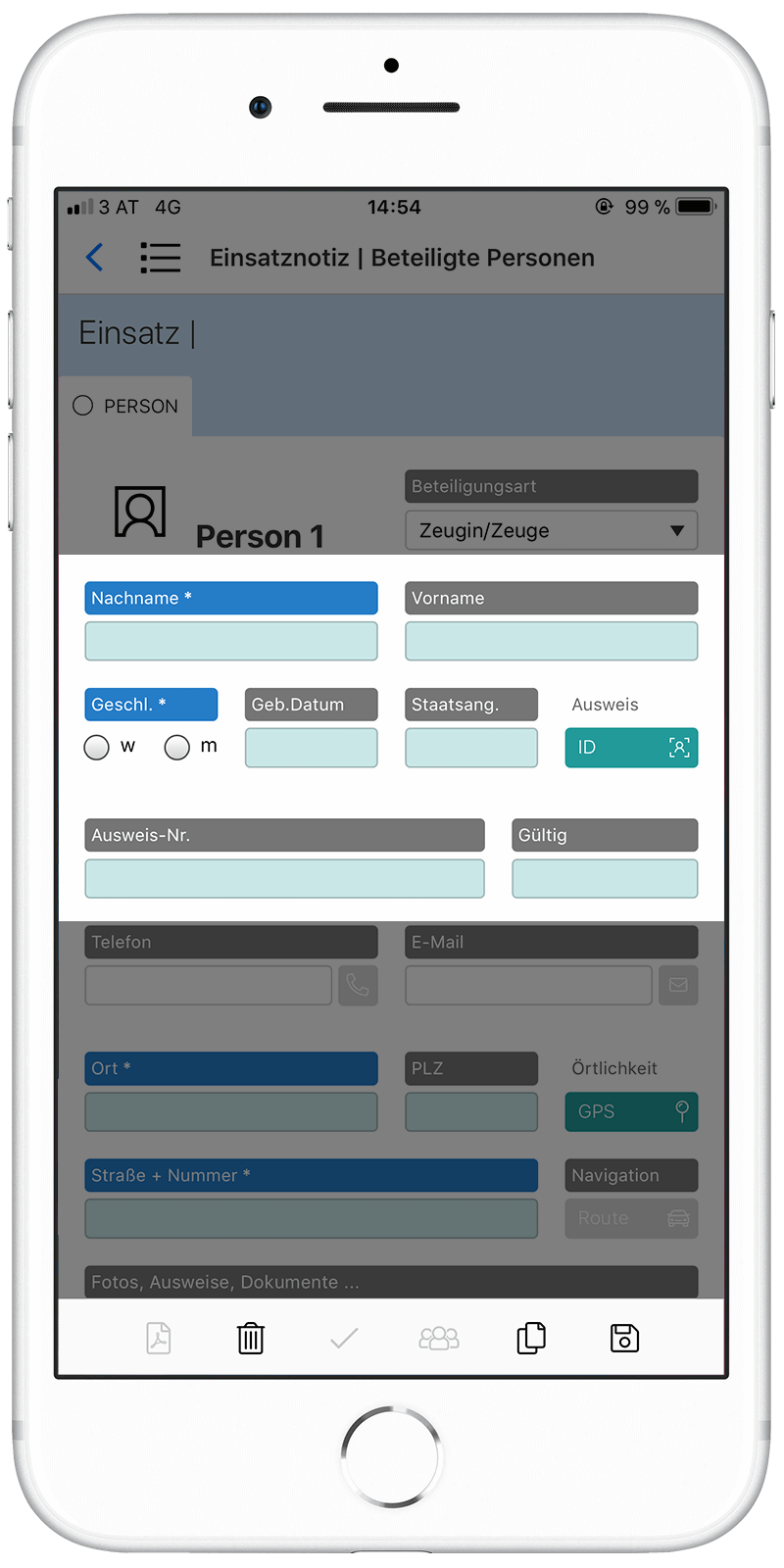 Integration of Anyline for mobile text recognition in